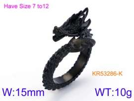 Stainless Steel Black-plating Ring