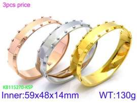 Stainless Steel Rose Gold-plating Bangle