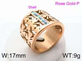 Stainless Steel Rose Gold-plating Ring