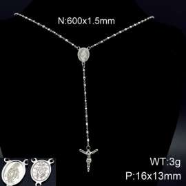 Stainless Steel Rosary Necklace