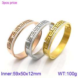 Stainless Steel Stone Bangle