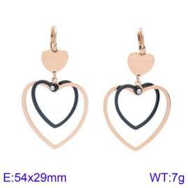 SS Rose Gold-Plating Earring