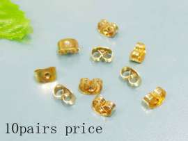 Stainless Steel gold-plating Earring Parts--10pairs Price