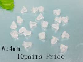 Plastic/Rubber Earring Parts--10pairs Price