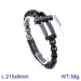 Stainless Steel Black-plating Bracelet